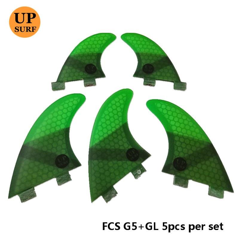 4Pcs / 5pcs FCS Fins G5 GL Fin Honeycomb Fiberglass Fins G5 + GL - Су спорт түрлері - фото 3