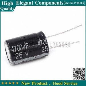 Image 1 - 5PCS 25V 4700UF 4700UF 25V Size 16*25mm Aluminum electrolytic capacitors 25 v / 4700 uf Electrolytic capacitor