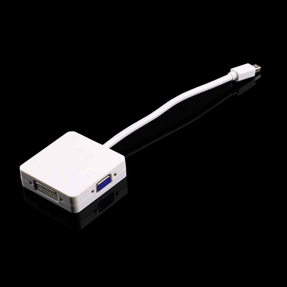 1pcs Hot Worldwide 3 in 1 Mini DP Displayport Thunderbolt to HDMI DVI VGA Adapter for MacBook Drop Shipping книжки картонки росмэн книга времена года вввм
