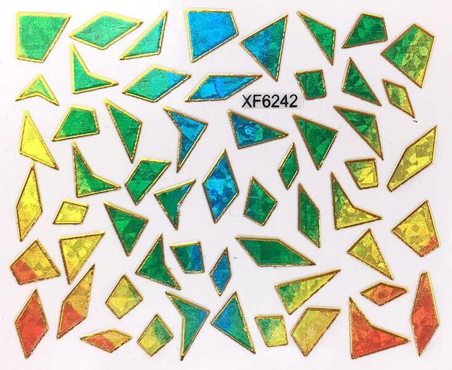 Nuevas pegatinas irregular Aurora cristal roto 3D calcomanías negro ...