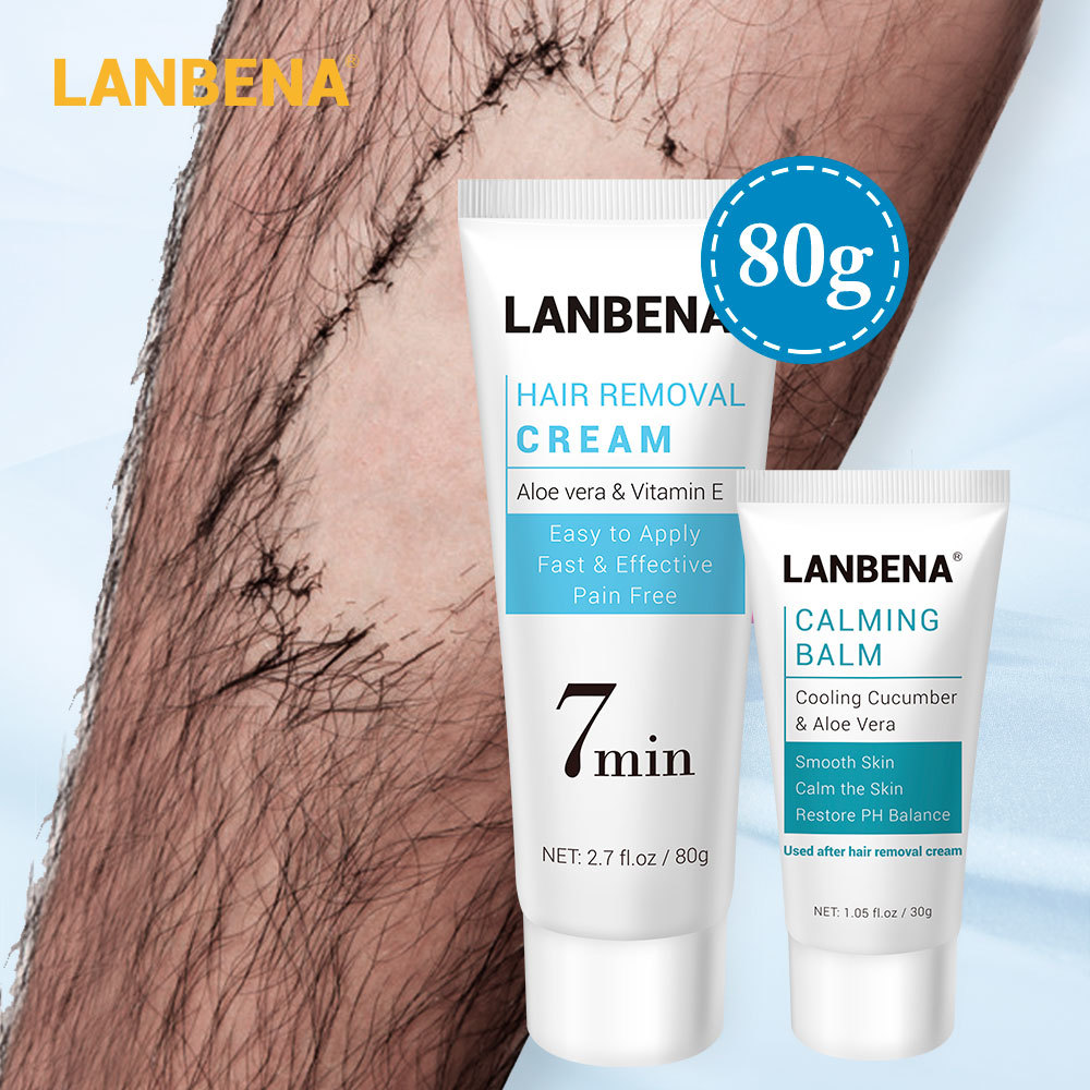LANBENA Hair Removal Cream Painless Removal Depilation Repairing Balm Gentle Effective Epilator Calming NourishingBody Care