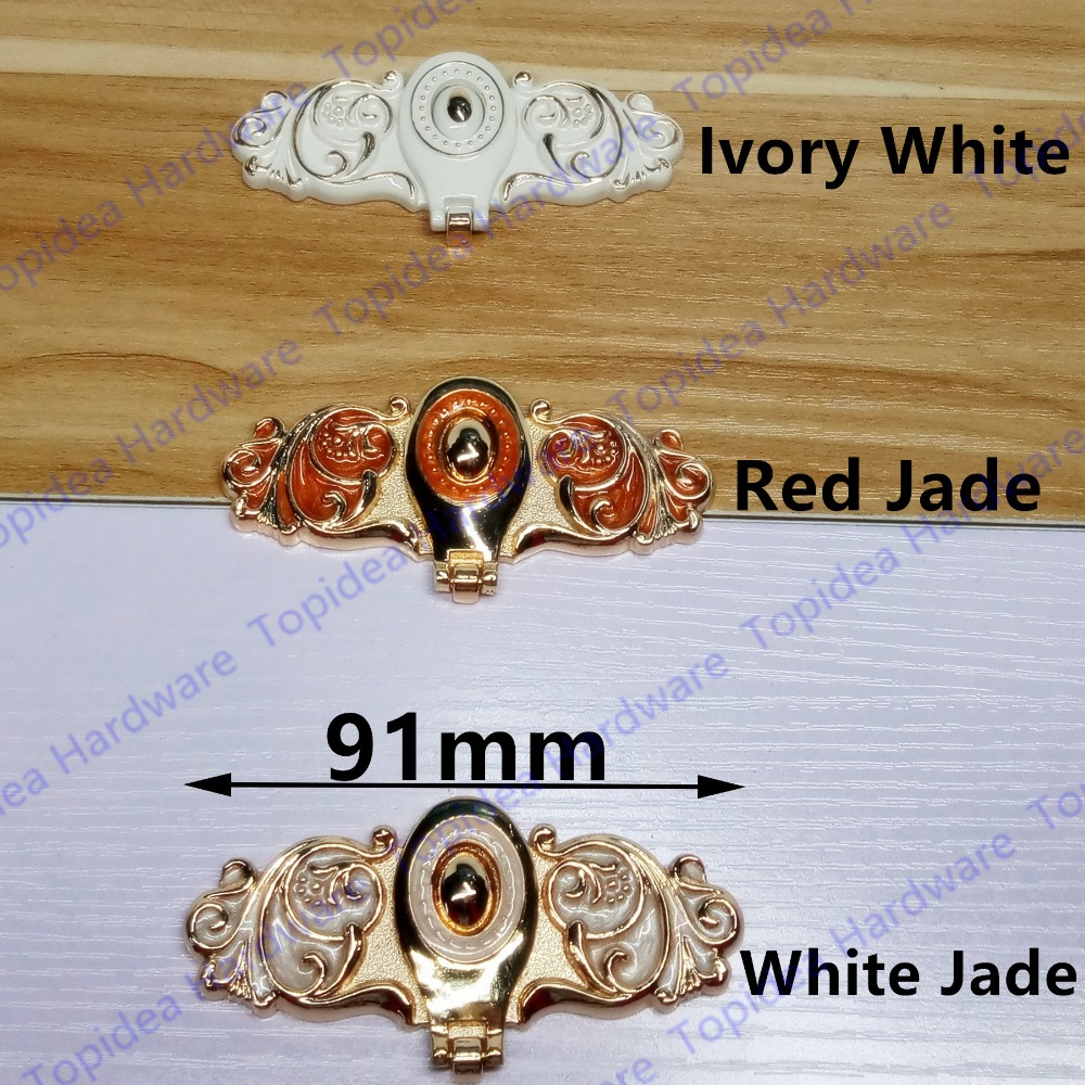Hole Pitch 12mm Ivory white/Red jade Zinc Alloy hidden handle modern handle Kitchen Furniture Handle  bedroom drawer handle swanstone dual mount composite 33x22x10 1 hole single bowl kitchen sink in tahiti ivory tahiti ivory