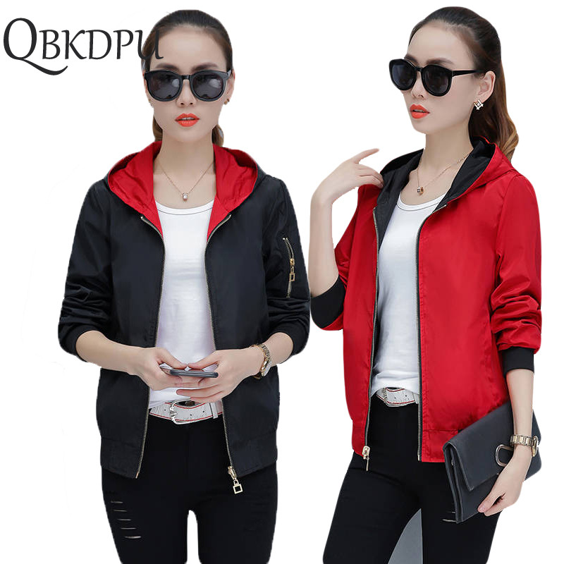 Women Solid color Hooded   Jackets   Multi-wear 2019 Summer Causal windbreaker Women   Basic     Jackets   Coats Zipper Lightweight   Jackets