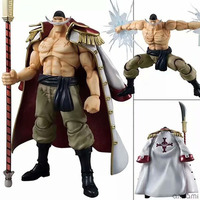 Anime One Piece POP Whitebeard Edward Newgate 25cm PVC Action Figure Model Big Model Toy with Box