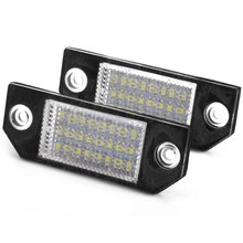 2Pcs/Pair Car Vehicle License Plate Light for Ford Focus 2 C-Max Portable 24 LEDs Number External Lights Lighting Accessories