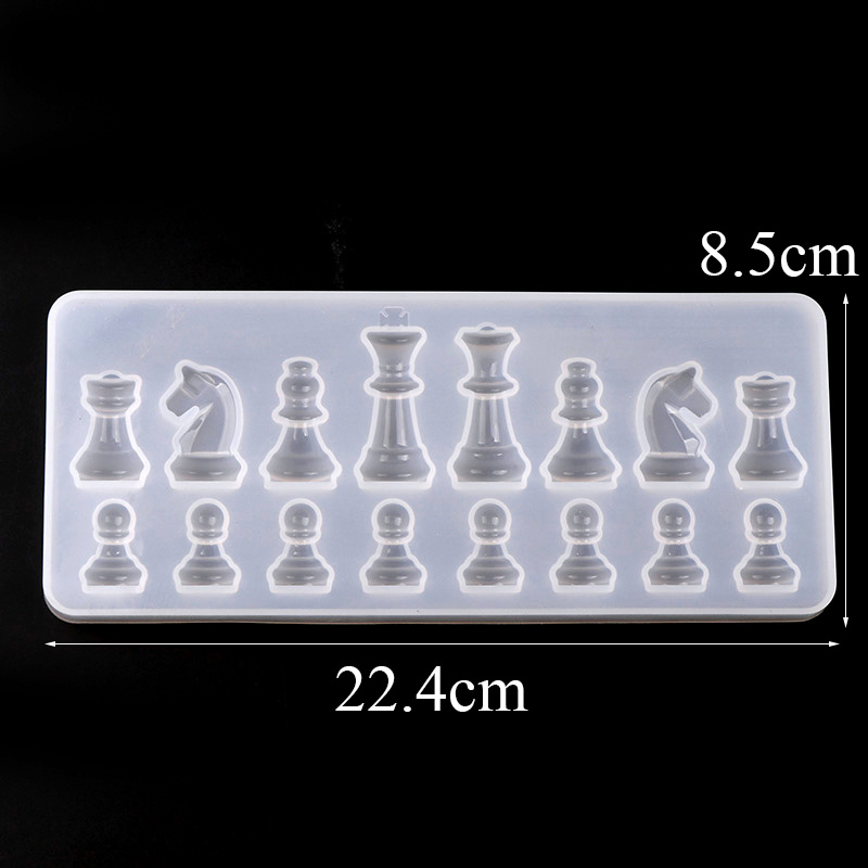 3D Chess Resin Mold,for Resin Casting Also Ideal for Polymer Clay,Crafting,Making Chocolate,Ice Cubes,Candy,Fondant Cake Decorating etc-4 pcs