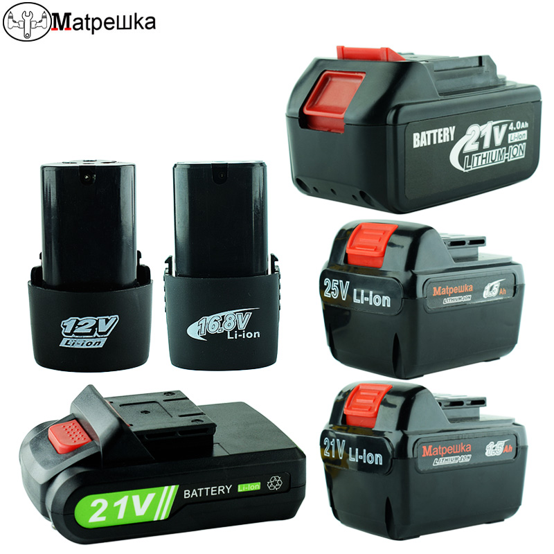 12V 16.8v 21v Rechargeable Lithium Battery Cordless Electric Screwdriver Battery Electric Drill Screwdriver Tool Accessories