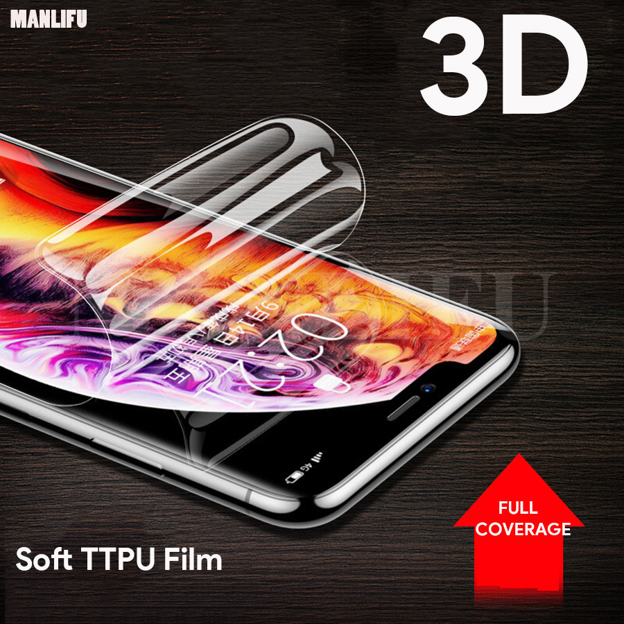 Front + Back Soft Silicone TPU Film For apple iPhone XS Max XR iphone X 7 8 6 6S Plus Screen Protector Protective Full CoverageFront + Back Soft Silicone TPU Film For apple iPhone XS Max XR iphone X 7 8 6 6S Plus Screen Protector Protective Full Coverage