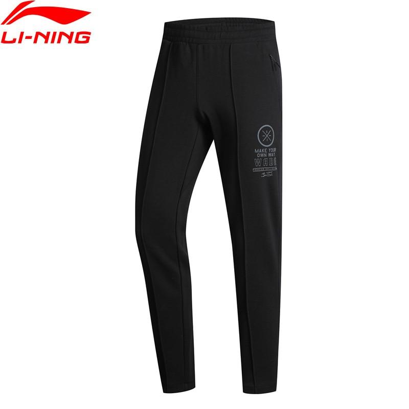 Li-Ning Men Wade Series Sweat Pants 3D Fitting Regular Fit 66% Cotton 34% Polyester LiNing Sports Trousers AKLN673 MKY406 li ning men wade series hooded coats 71