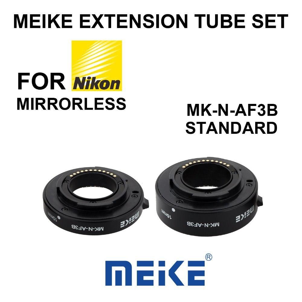 Meike N AF3 B Auto Macro Focus AF Extension Tube Ring Set Adapter for Nikon 1