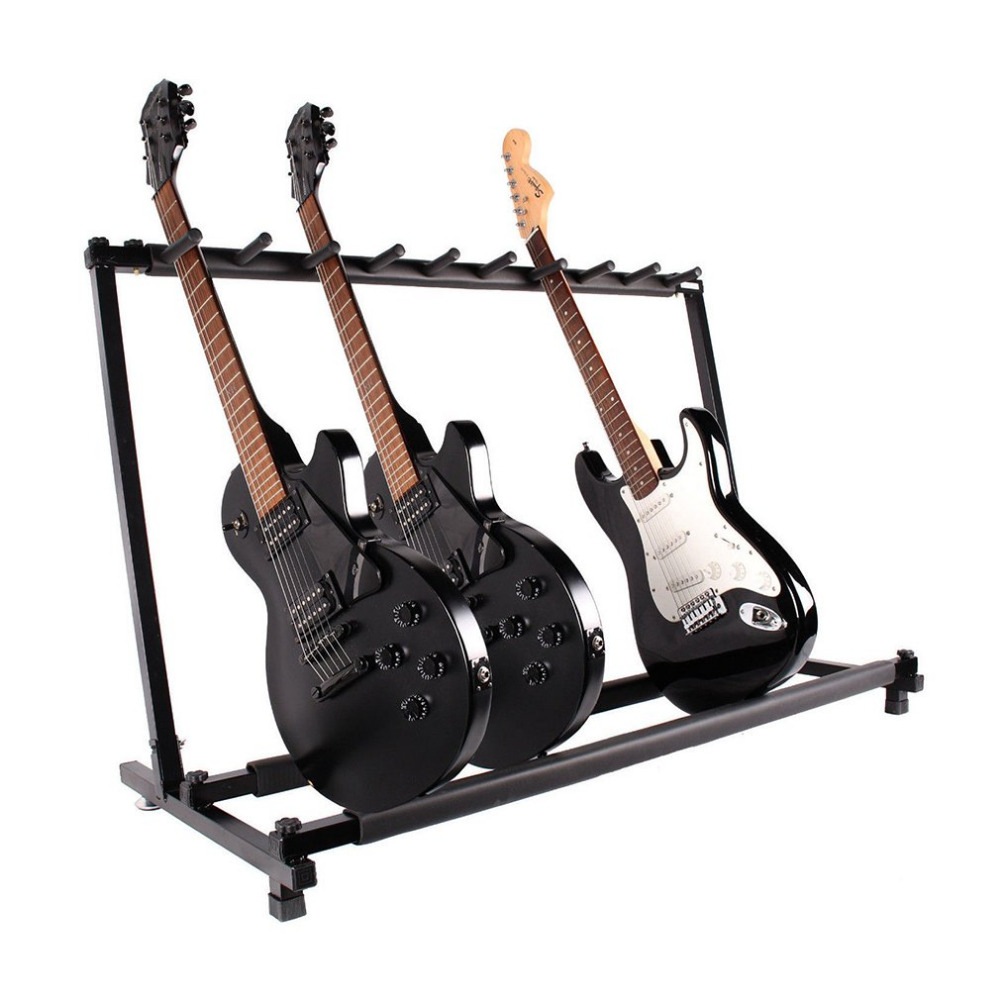 tsai guitar holder universal multiple guitar folding rack storage organizer electric acoustic. Black Bedroom Furniture Sets. Home Design Ideas