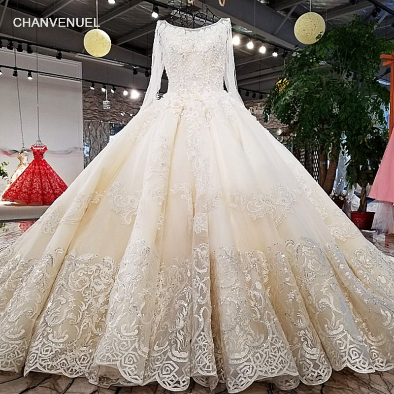 LS62347 O neck new style lace up ladylike bridal dress corset back princess wedding dress with long train from china online shop