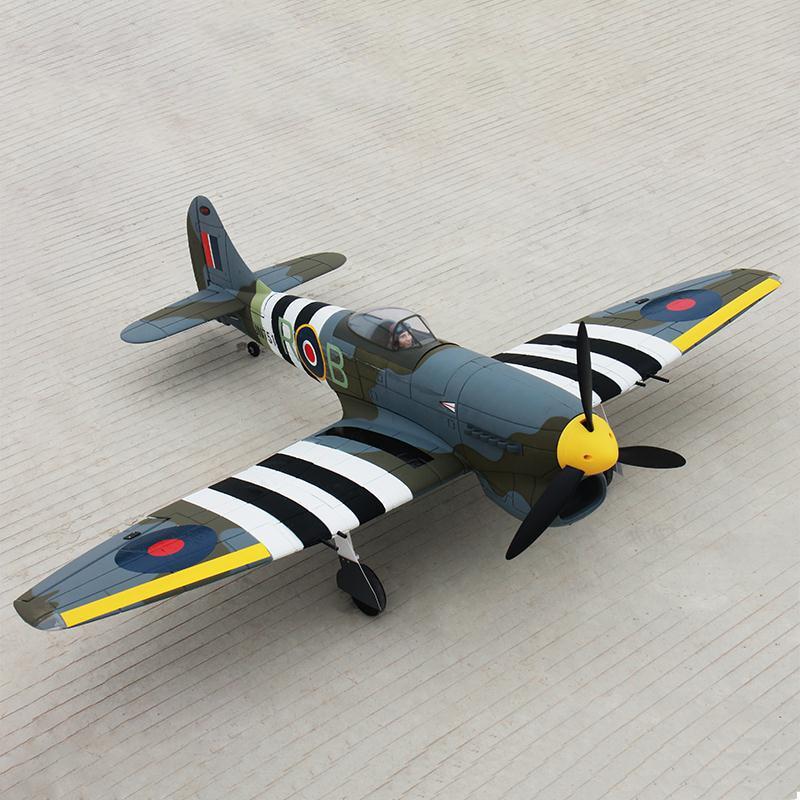 все цены на Dynam 1250MM Hawker Tempest RC PNP/ARF Propeller Plane Model W/ Motor ESC Servos онлайн