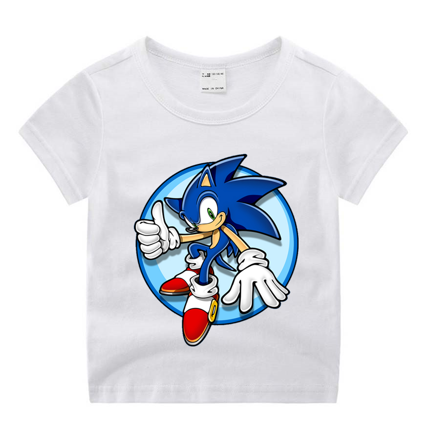Boy Girl Cartoon Movie Sonic The Hedgehog Funny Cartoon Print T Shirt Kids Summer O Neck Tops Boys Girls Tshirt Baby Clothes Aliexpress Com Imall Com