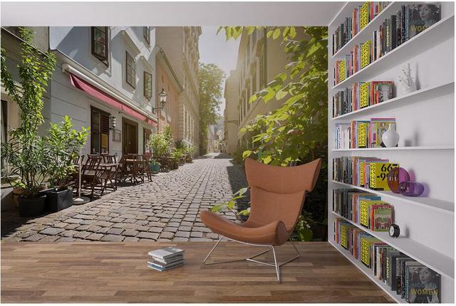 Custom Photo 3d Wallpaper Non Woven Mural European Alley Street View  Decoration Painting 3d Wall