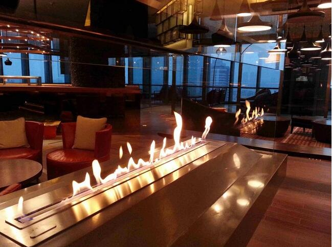 Inno-living 72 Inch Built-in Wifi & Remote Control Electric Fireplace Bioethanol