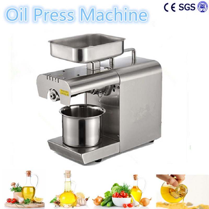 Hot Sale Cold Oil Press Machine  Coconut  Peanuts Automatic Mini Home Seed Nut Presser Extractor Expeller High Extraction high quality best price cold press oil seed extracting machine