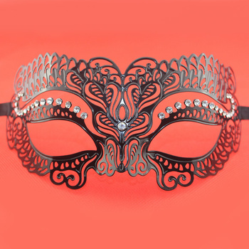 Beautiful Laser Cut Venetian Masquerade Metal Mask Lady Party Costume Mask Festive Supplies 5pcs/lot SD293
