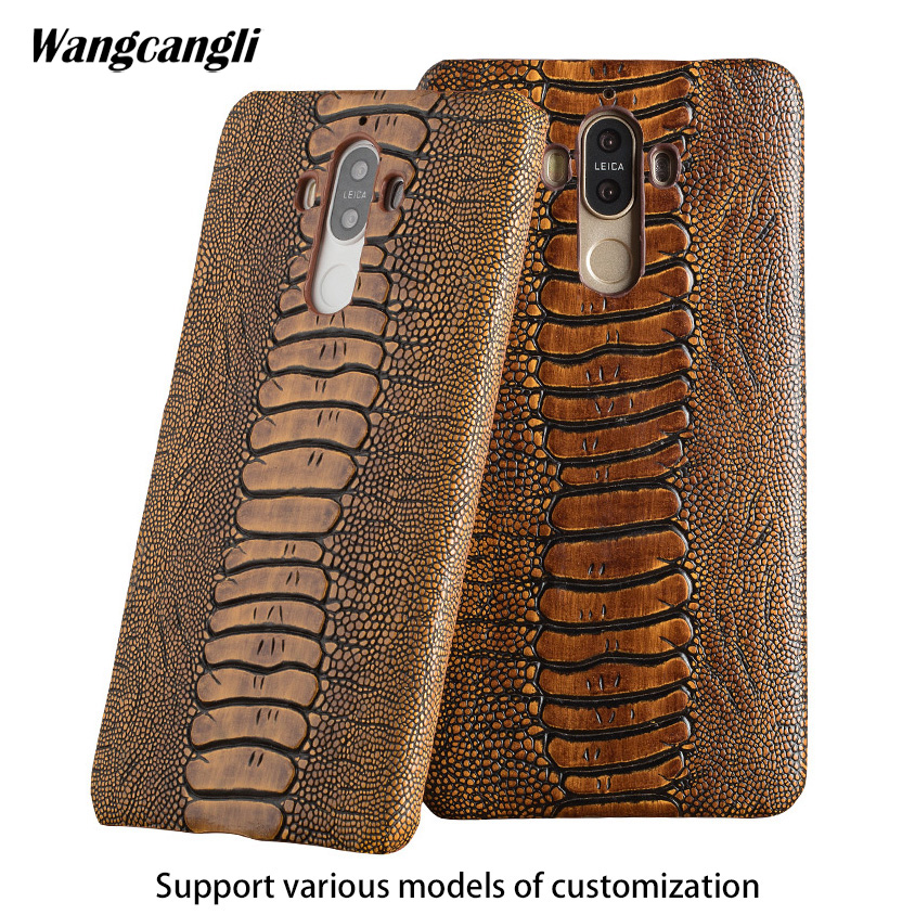 Cowhide ostrich foot texture phone case for Huawei P20 lite custom made phone case Genuine leather phone protection caseCowhide ostrich foot texture phone case for Huawei P20 lite custom made phone case Genuine leather phone protection case