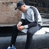 VIISHOW AUTUMN Patchwork Hoodies Mens Male Hip Hop Male Brand Hoodie Stitching Sweatshirt Men Slim Fit