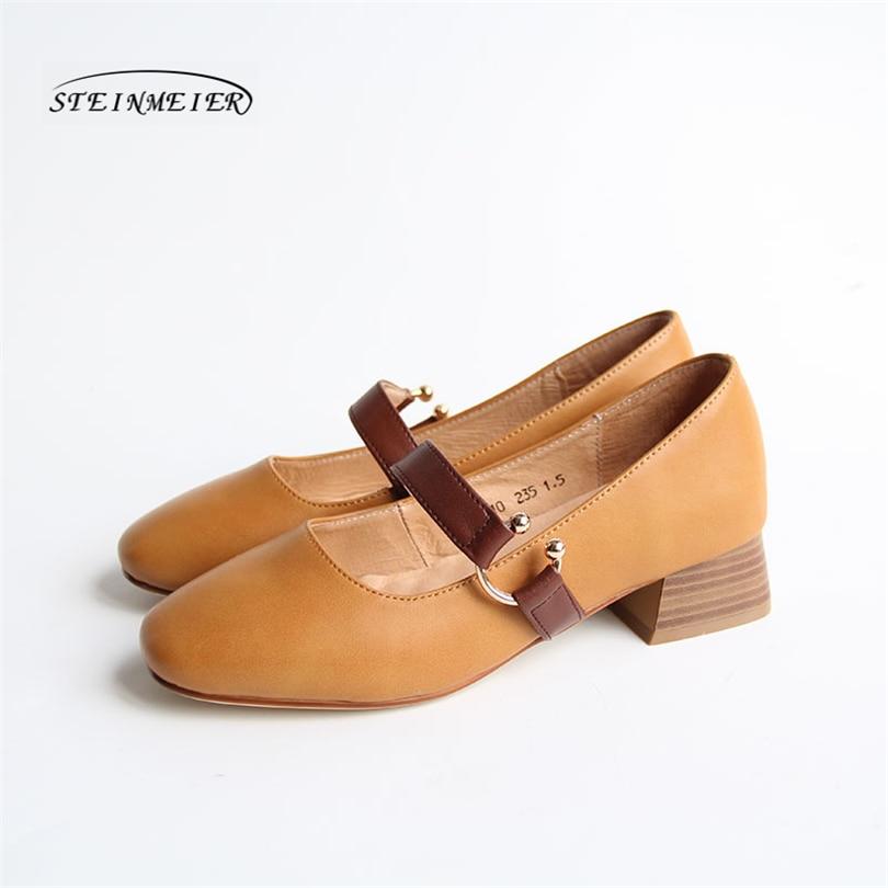 Women genuine Leather spring summer flat Sandals shoes handmade beige oxford slippers vintage Square Toe British summer shoes women genuine leather flat sandals shoes handmade beige white oxford slippers vintage square toe british style shoes