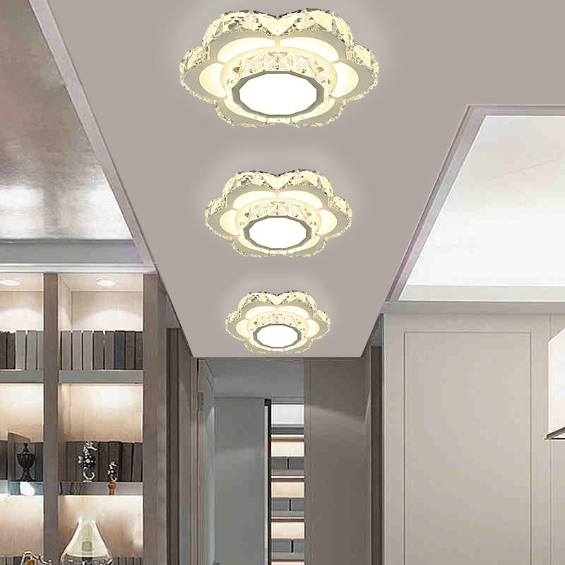 ФОТО New arrival led crystal ceiling light entrance aisle corridor lamp