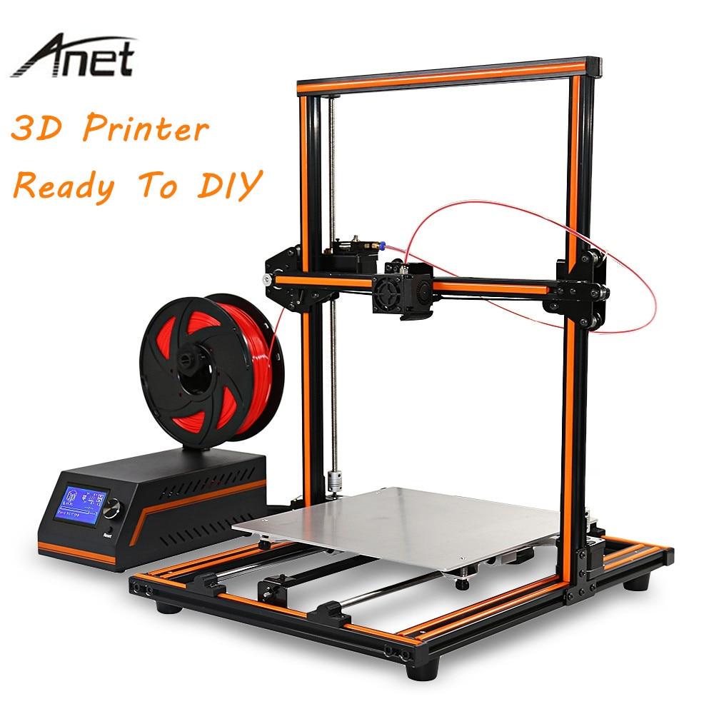 Anet E12 3D Printer Aluminium Alloy Frame Easy Assembly Large Size 300X300X400 3D Printer DIY Kit 3D Printing PK JGAURORA A5 anet e10 e12 3d printer aluminium frame easy assembly large printing size impresora 3d printer diy kit with 10m pla filament