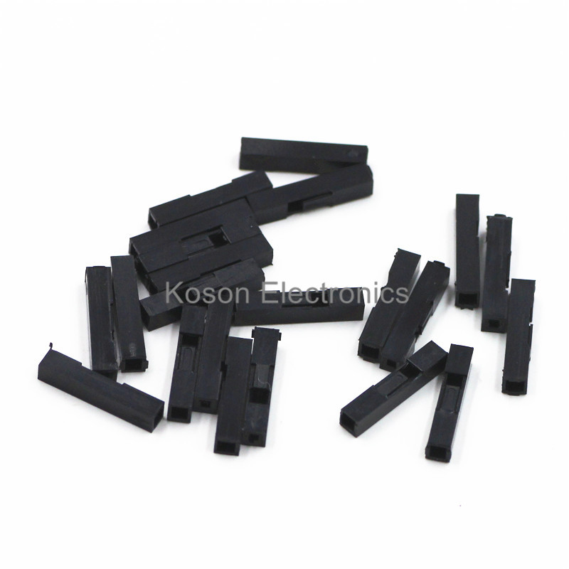 100Pcs 1P Dupont Jumper Wire Cable Housing Female Pin Connector DuPont plastic shell 2.54mm Pitch 50pcs lot 6 pin 2x3 pin 2 54mm double row plastic dupont head jumper wire cable housing female pin connector