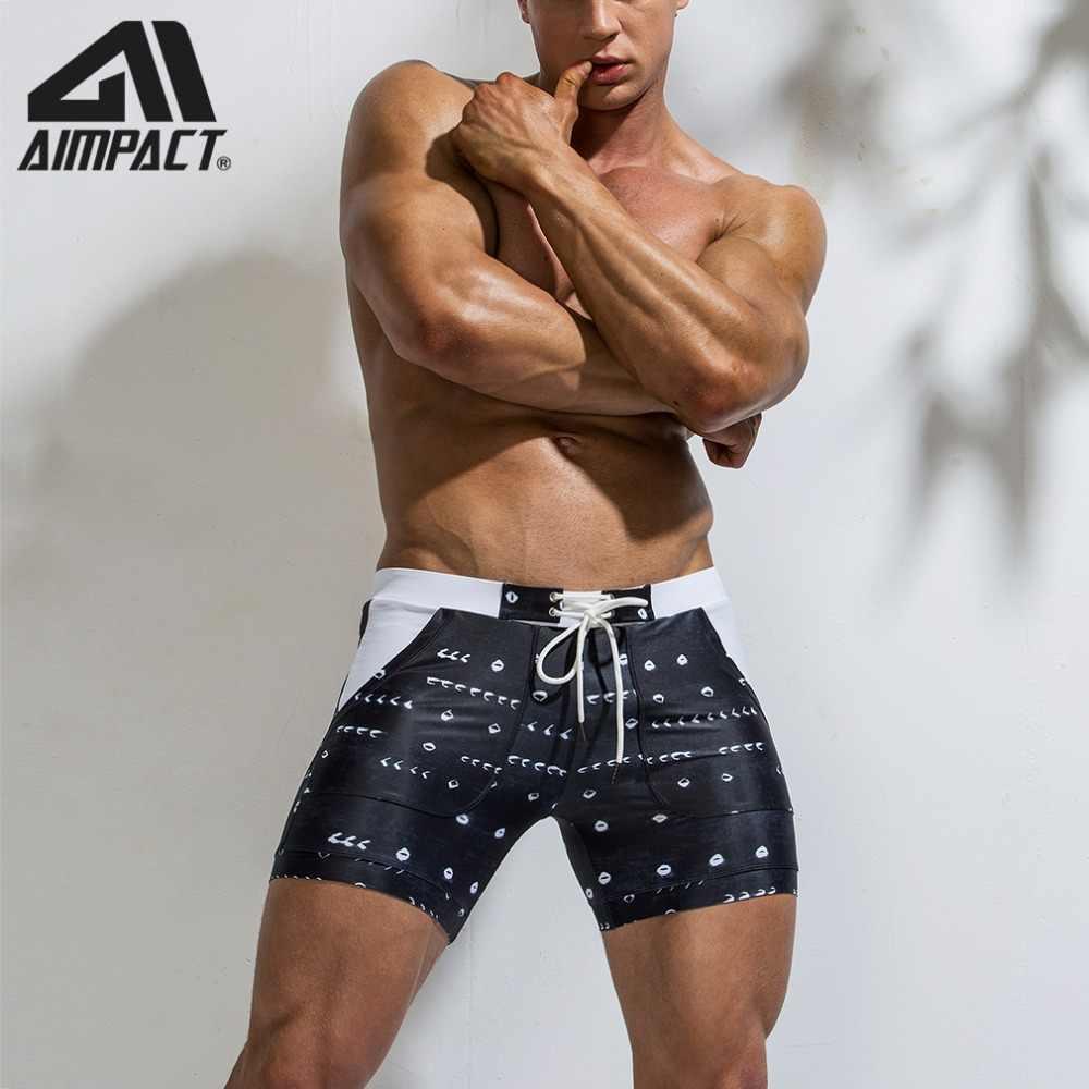 2019 nuevos pantalones cortos de tabla para hombre, pantalones cortos de playa para hombre, pantalones cortos de baño de secado rápido para hombre AM8115 By aimpact