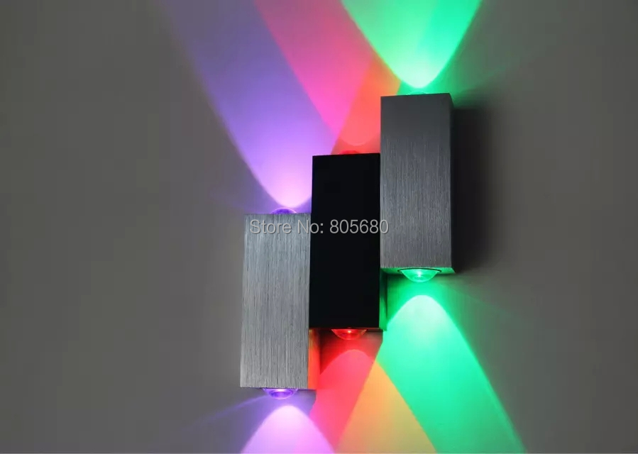 5pcs 2015 New Modern 6W led wall light up and down bedroom reading wall lamp hotel lamp lights