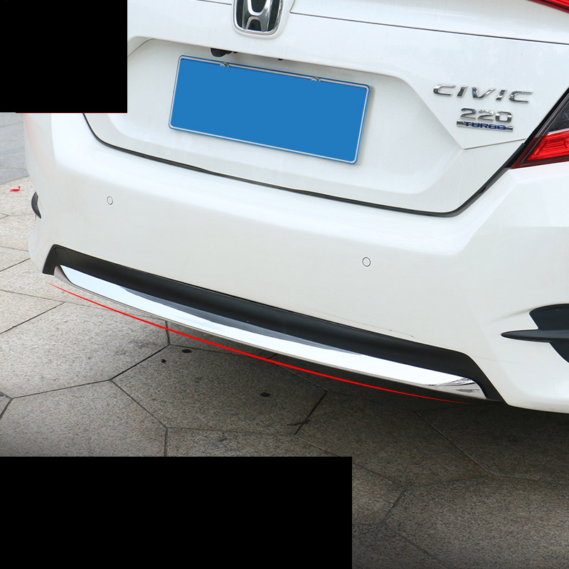 lsrtw2017 car styling car rear bumper trims for honda civic 2016 2017 2018 10th civic