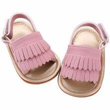 Бахромой прохладно infantil кисточкой сандалии летом  pu пляж новорожденных девочек