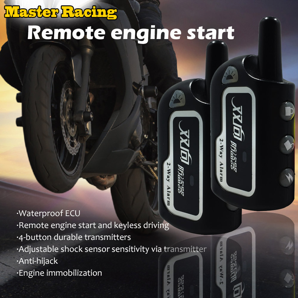 Motorcycle 2 Two Way Burglar Alarm Scooter Anti-Theft Security Protection Alarm System Remote Control Engine Start For Honda