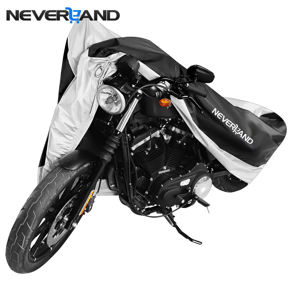 NEVERLAND motocicleta Universal al aire libre UV Protector bicicleta lluvia a prueba de polvo los agujeros de bloqueo impermeable para Scooter cubre M-XXXL