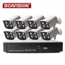 8Ch 1080 P NVR Kit Extérieure Bullet Caméra IP Système P2P Nuage 8 Canaux POE NVR Système Onvif et Facile D'accès Prend En Charge PC et Mobile vue