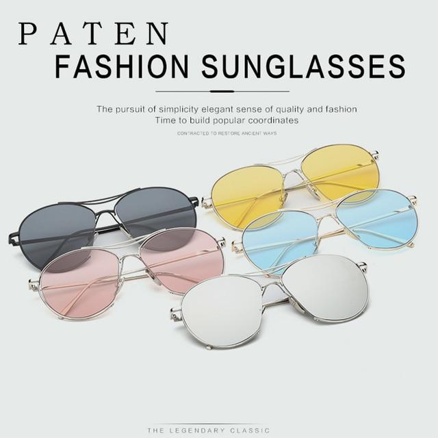 a40e60d971e110 2017 Vintage Ronde V Marque Designer Sungalsses Femmes Unisexe Transparent  couleur Objectif Clair Lunettes GDGM oculos