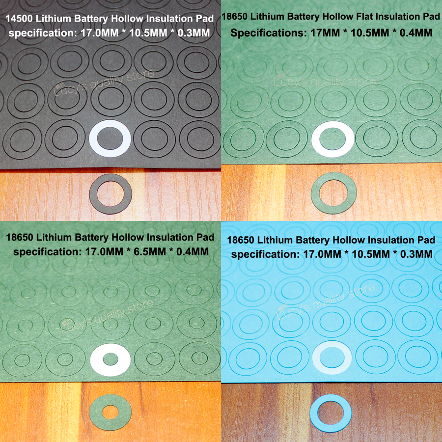 100pcs/lot 18650 Lithium Battery Positive Hollow Tip Insulation Gasket 18650 Battery Face Pad Insulation Pad Battery Accessories сегмент дуги алюминиевый alexika alexika 1 шт 1 1 x 53 см