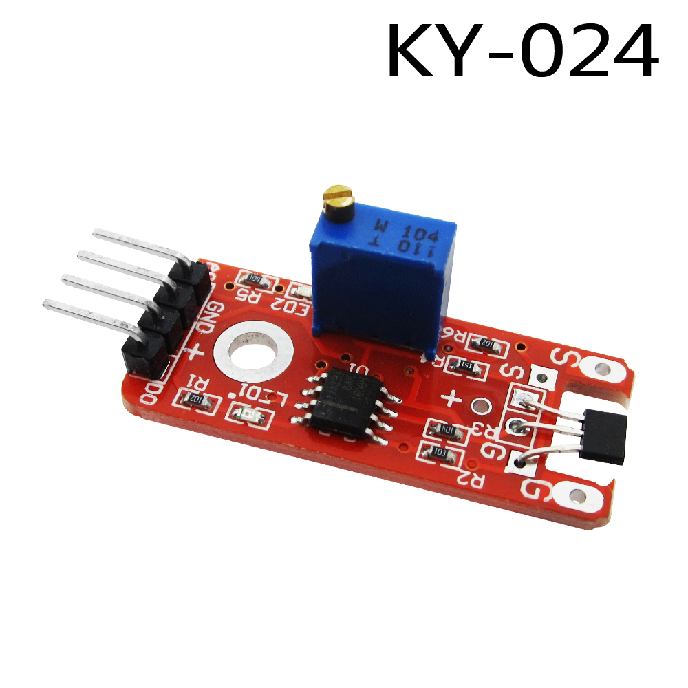 1pcs 4pin KY-024 Linear Magnetic Hall Switches Speed Counting Sensor Module