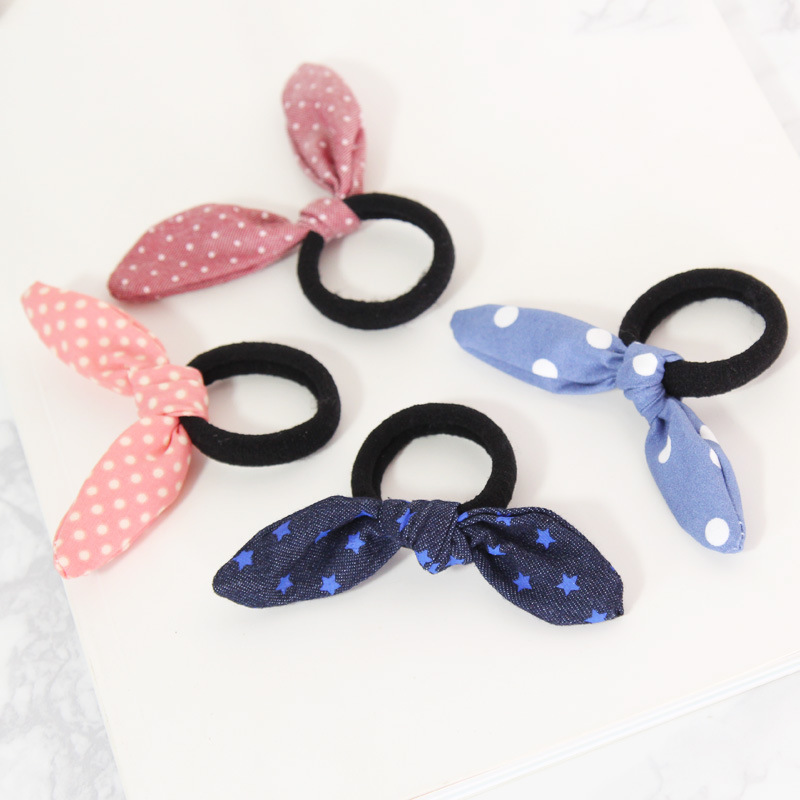 Женские аксессуары для волос Ponytai, декоративные эластичные повязки для волос с кроличьими ушками