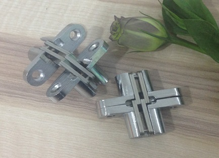 15pcs/Lot 13*45mm Conceal Hinges For Folding Sliding Door Mortise 180 Degree Turning Concealed Cross Hinge