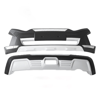 JIOYNG สำหรับ Suzuki Vitara 2016-2018 ด้านหน้า + ด้านหลังกันชน Diffuser กันชน Lip Protector Guard แผ่นลื่นไถล ABS Chrome เสร็จสิ้น 2PES