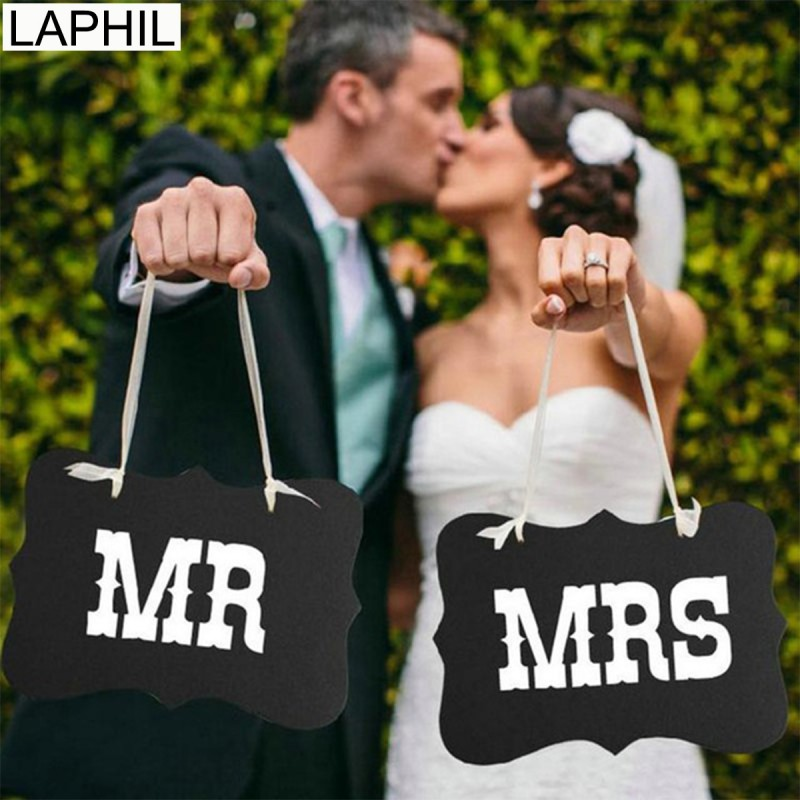 US $1 41 10% OFF|LAPHIL Mr Mrs Just Married Fun Photo Booth Props Bride  Groom Wedding Decoration Photobooth Frame Bridal Shower Party Supplies-in