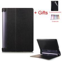 Flip Fall für Lenovo YOGA TAB3 Plus 10,1 YT-X703 & Yoga Tab 3 Pro X90 X90F X90L Tablet PU Leder schutzhülle + Film + Stift