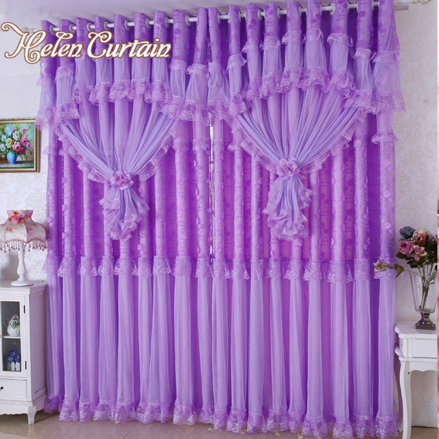 Helen Curtain Hot ! 3 lays lace luxury curtains for living room ...