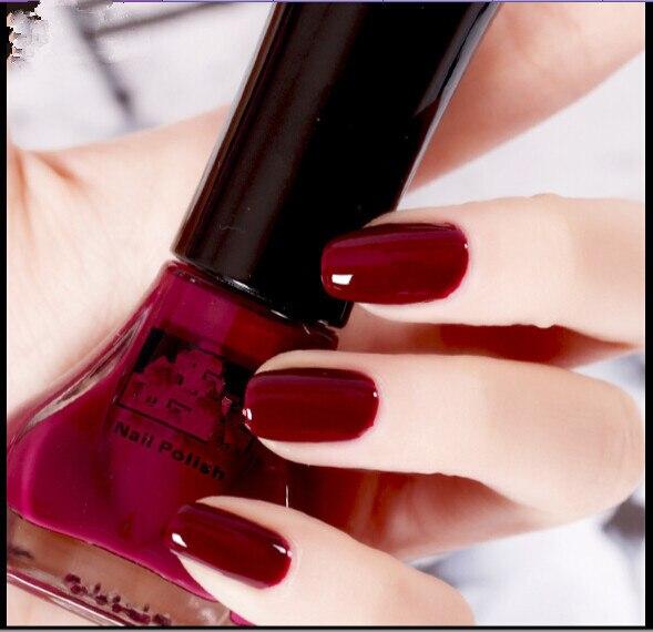 Wine Colored Nail Polish: Matte Paint Color Manicure Wine Red Nail Polish-in Nail