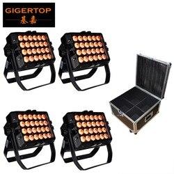 4IN1 Road Case Pack 24 x 18W Led Flood Light Outdoor Floodlight Spotlight IP65 Waterproof 110V-220V DMX512 Control 6/10 Channels