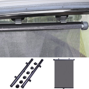 2pcs Car Window Sunshade Cover Automatic Window Sun Block Roller Blinds Shades with 6 Suction Cups car styling image