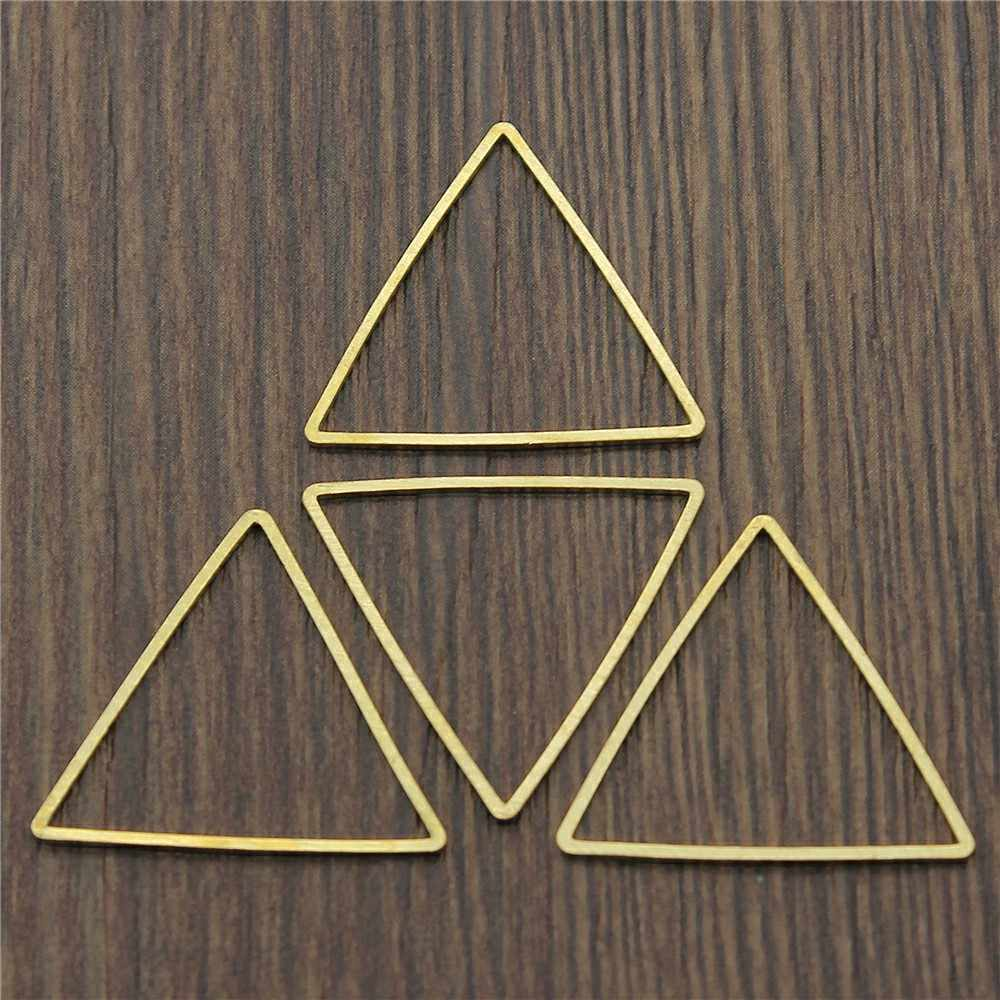 4 Colors 24x24x24mm Hollow Triangle Shape Charms Pendant Connector Earring Bracelet Necklace
