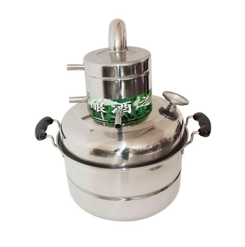 Livraison gratuite acier inoxydable usage domestique distillateur de vin vapeur vin et fleur huile équipement
