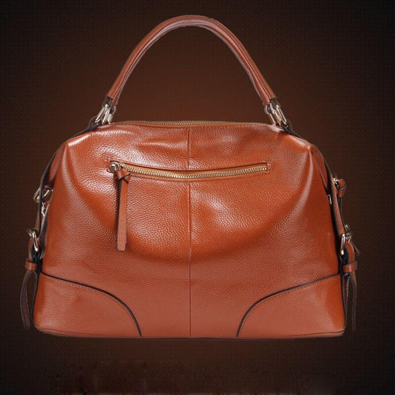 100% Genuine leather Women Cross Body Tote Handbag Classic casual fashion  female bag of bill of lading messenger bag Handbags-in Shoulder Bags from  Luggage ... 1edb4e0e86db
